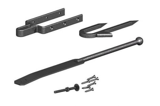Spring fastener set catch and keep black alone - tarmec and croft fencing and gates ltd 01787 228484