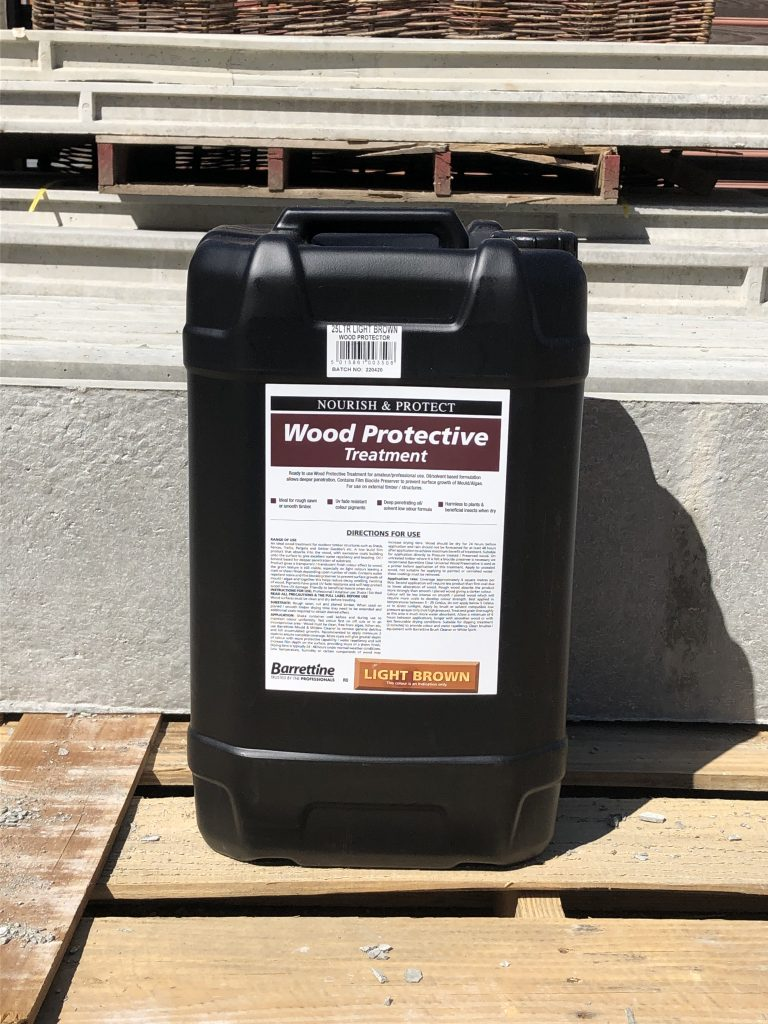 Wood preservative - treatment Light brown- Tarmec and croft fencing and gates ltd 01787 224848