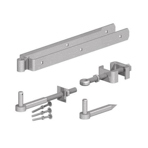 adjustable field gate set on pins - galv - tarmec and croft fencing and gates ltd 01787 224848