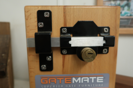 cays lock - back view - tarmec and croft fencing and gates ltd 01787 224848