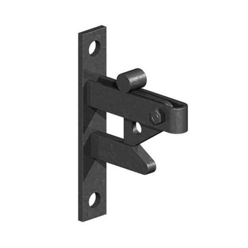 self locking field gate catch - black - tarmec and croft fencing and gates ltd 01787 224848