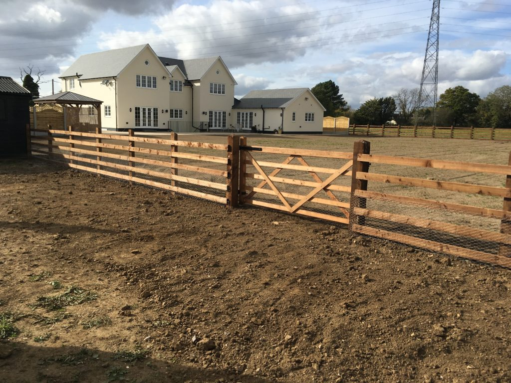 Post and 5 Rails Bespoke Fencing with gates Tarmec and Croft Fencing and Gates Ltd - Copy