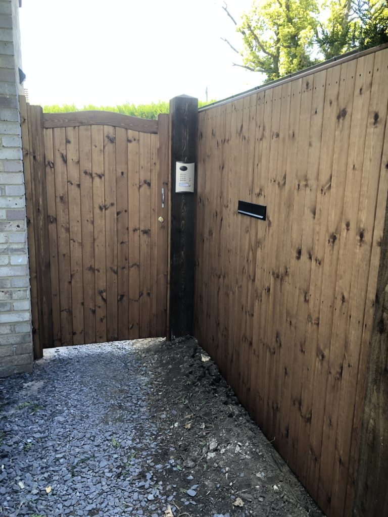 Side Gate with Automated Access - Braintree - Tarmec and Croft 01787 224848