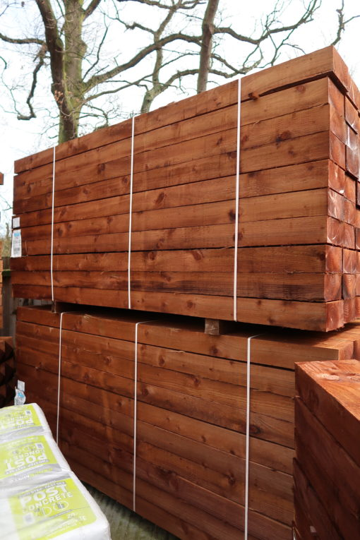 Timber posts - softwood side view- tarmec and croft fencing and gates ltd 01787 224848