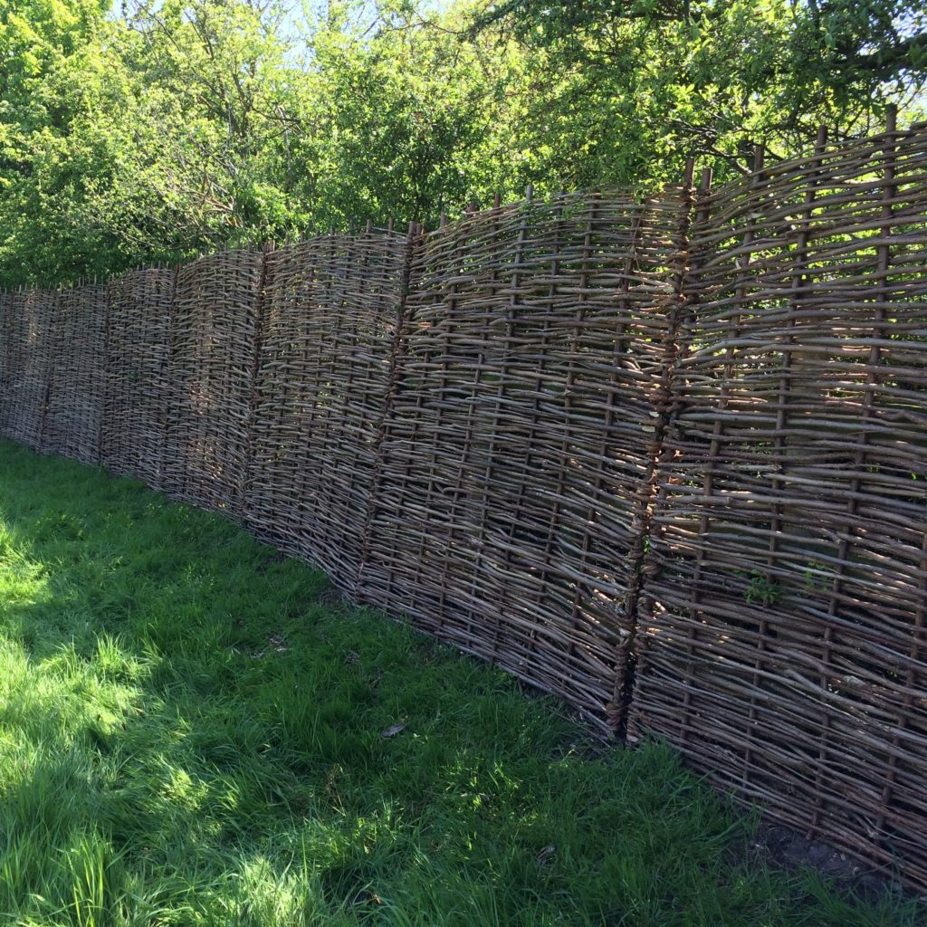 hazel - willow hurdle pannels essex tarmec and croft fencing and gates 01787224848