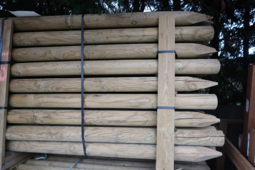 round wooden posts - tarmec and roft fencing and gates ltd 01787 224848