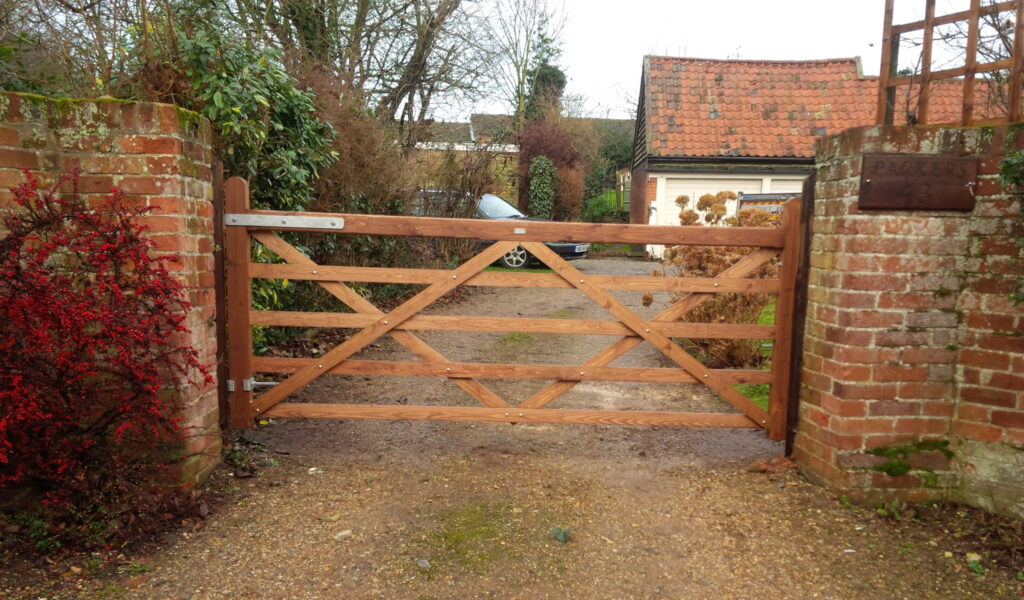 5 Bar gate Softwood Tarmec and Croft fencing and gates 01787 224848