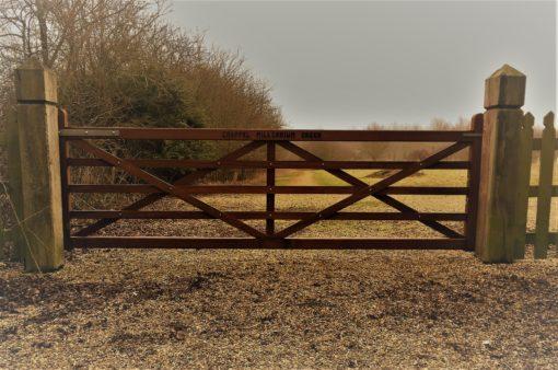 Bespoke 5 Bar Gate design Tarmec and Croft fencing and gates 01787 224848
