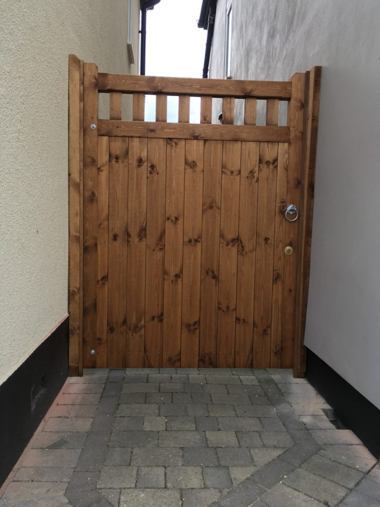 East Anglia Side Gate Treated - Tarmec and Croft fencing and gates 01787 224848