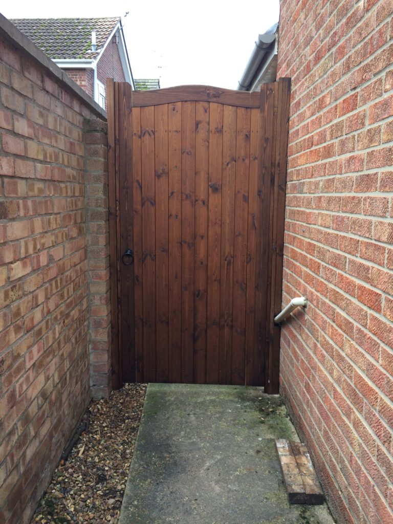 Essex Side Gate Treated softwood made to measure Tarmec and Croft fencing and gates 01787 224848