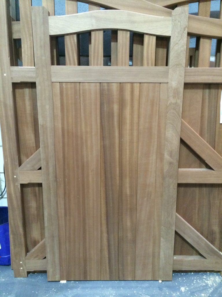 Hardwood Side Gates Colne Valley Tarmec and Croft fencing and Gates 01787 224848