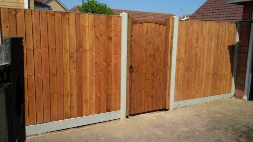 concrete posts on panels - tarmec and croft fencing and gates ltd 017872 24848