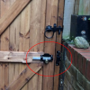 Cays lock - back view on gate - tarmec and croft fencing and gates ltd essex 01787 224848