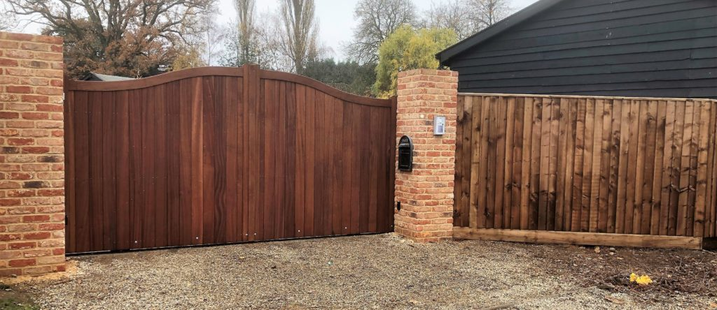 Essex Driveway Gates with fencing Tarmec and Croft fencing and Gates Ltd