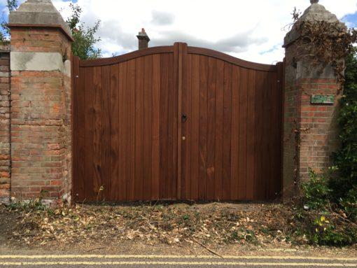 Hardwood Driveway Gates Tarmec and Croft