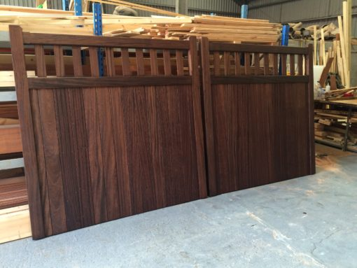 Hardwood Slatted Straight Top Gates Tarmec and Croft 01787 224848