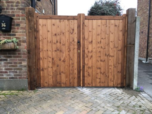 Straight Top Softwood Gates Tarmec and Croft