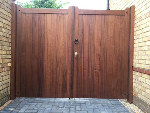 Suffolk Straight Top driveway Gates Tarmec and Croft