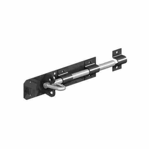 brenton pad bolt - black alone - tarmec and croft fencing and gate ltd 01787 224848