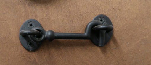 cabin hook - black - brighter image - tarmec and croft fencing and gates 01787 224848
