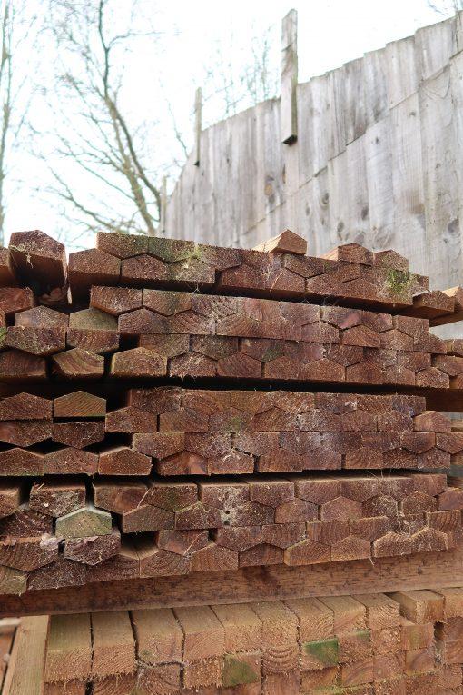 Panel cap rails - long - end view - tarmec and croft fencing and gates ltd 01787 224848