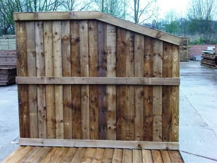Sloped closeboard fence panel essex - tarmec and croft fencing and gate ltd 01787 224848