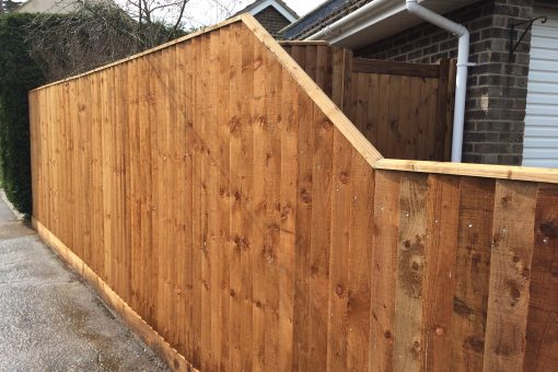 closeboard slope topped pannels - tarmec and croft fencing and gates ltd 01787 224848