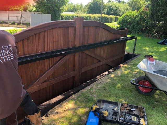 Bow Top Sliding Automated Gate Tarmec and Croft 01787 224848