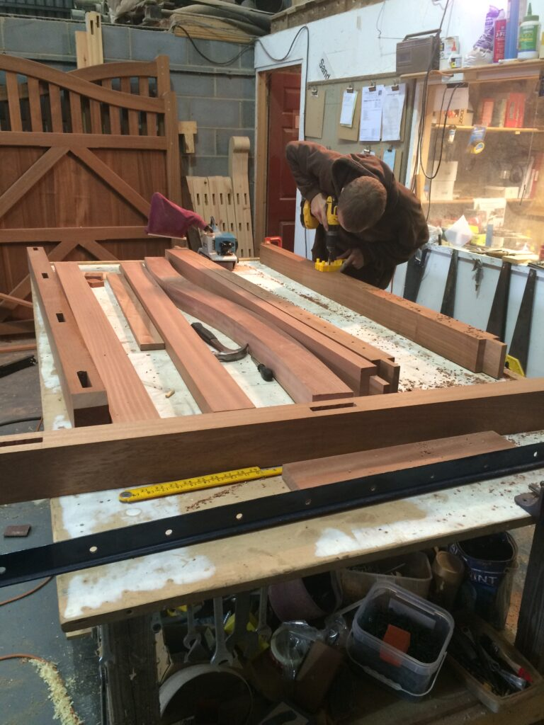 Hardwood 5 Bar Gate construction Tarmec and Croft