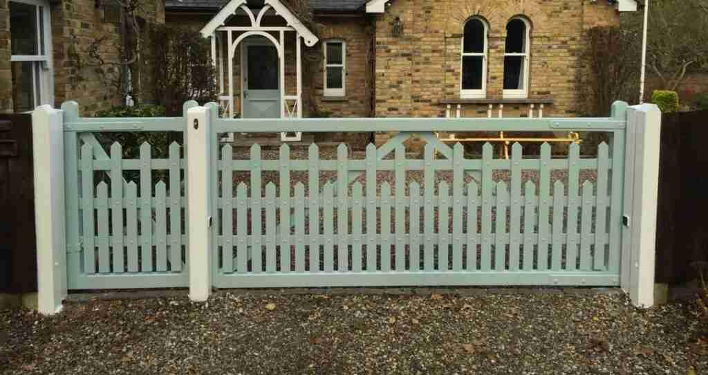 Hardwood Driveway Gates BespokeTarmec and Croft Fencing and Gates Ltd